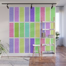PASTEL RECTANGLES SHAPES  Wall Mural