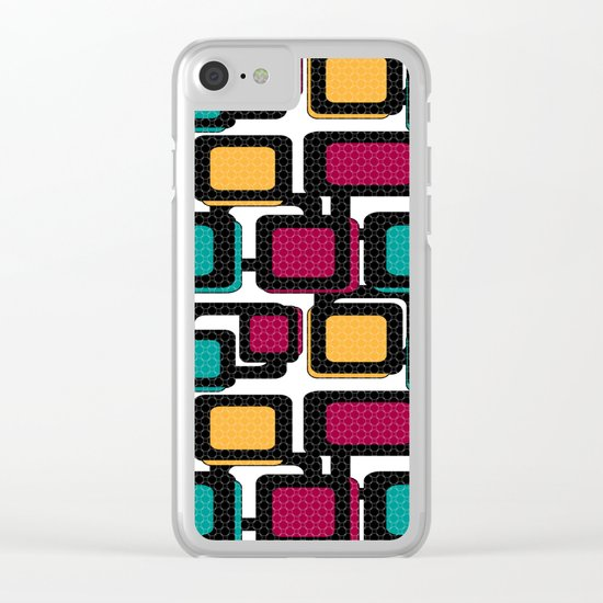 Seamless pattern with geometric elements Clear iPhone Case
