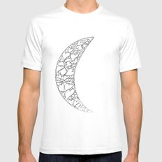 A Moon full of hearts SMALL Mens Fitted Tee White