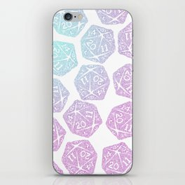 d20 pattern dice gradient pastel iPhone Skin