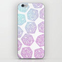 d20 pattern dice gradient pastel iPhone Skin