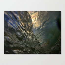 intersecting water lines Canvas Print