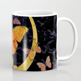 "SHABBY CHIC ""OFF THE WALL"" BUTTERFLIES &  BLACK  ART Coffee Mug"