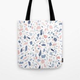 Terrazzo vintage pastel blue pink Tote Bag