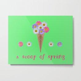 A scoop of spring Metal Print