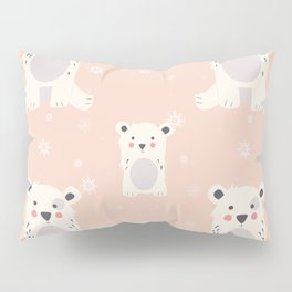 Polar bear pattern 005 Pillow Sham