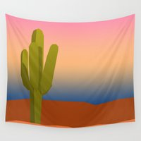 cactus Wall Tapestries featuring Cactus by LeahOwen