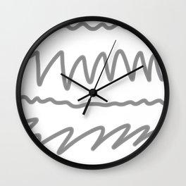 gray2 Wall Clock