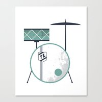 drums Canvas Prints featuring Drums by Beth Laird