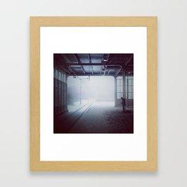 Troubled Tracks Framed Art Print