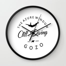 Cliff Jumping Shirt Gozo Cliff Diver TShirt The Azure Window Cliff Diving T Shirt Wall Clock