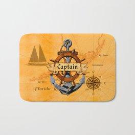 Captain Anchor And Ship Helm Bath Mat