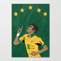 neymar Canvas Prints featuring Neymar by Little Aig
