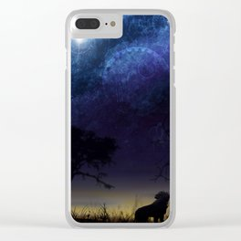The Final Frontier Clear iPhone Case