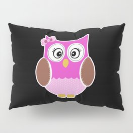 Pink Owl Pillow Sham