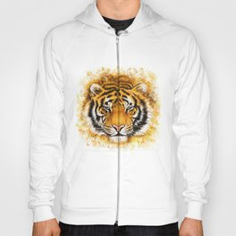 Artistic Tiger Face Hoody
