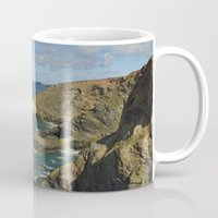 agnes cecile Mugs featuring Cornish Seascape St Agnes  by Cornish Seascapes