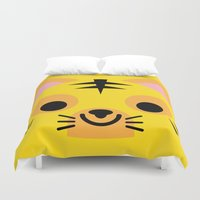 wrestling Duvet Covers featuring Wrestling Academy Pepe by TokyoCandies