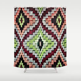 Bargello hourglass -  does anyone really know what time it is? Shower Curtain