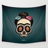 frida Wall Tapestries featuring Frida by mangulica