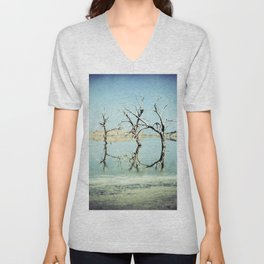 Three Trees in the Sea - Salton Sea California Unisex V-Neck