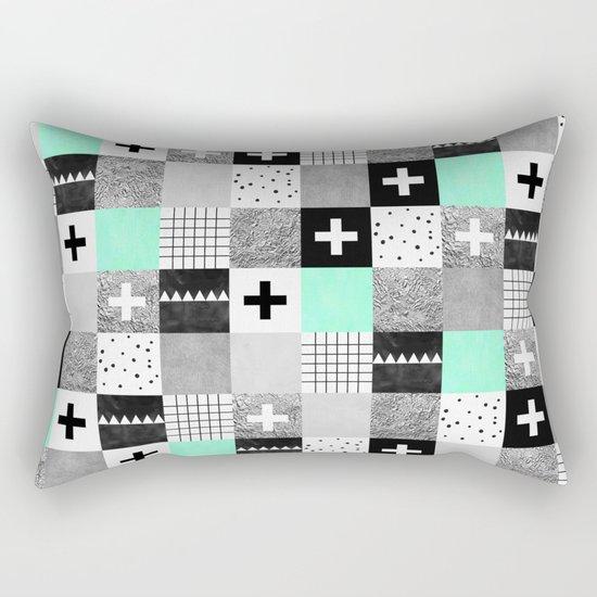 Squares 002 Rectangular Pillow