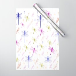Dragonfly Pattern Wrapping Paper