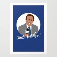 dodgers Art Prints featuring Vin Scully by Eric J. Lugo