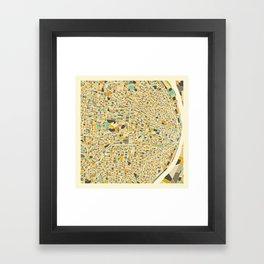 St Louis Map Framed Art Print
