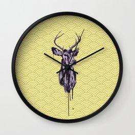 Deer Head IV Wall Clock