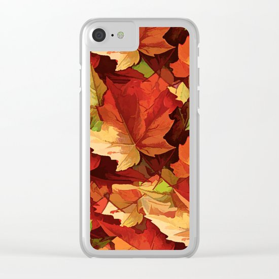 Autumn Leaves Abstract - Painterly Clear iPhone Case