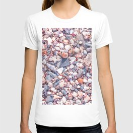 Sand and stones on the beach T-shirt