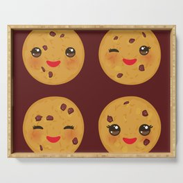 Kawaii Chocolate chip cookie Serving Tray