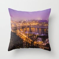 prague Throw Pillows featuring Prague 1 by Veronika