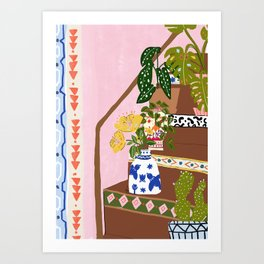 Bohemian stairs Art Print
