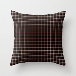Black Tartan Plaid Throw Pillow