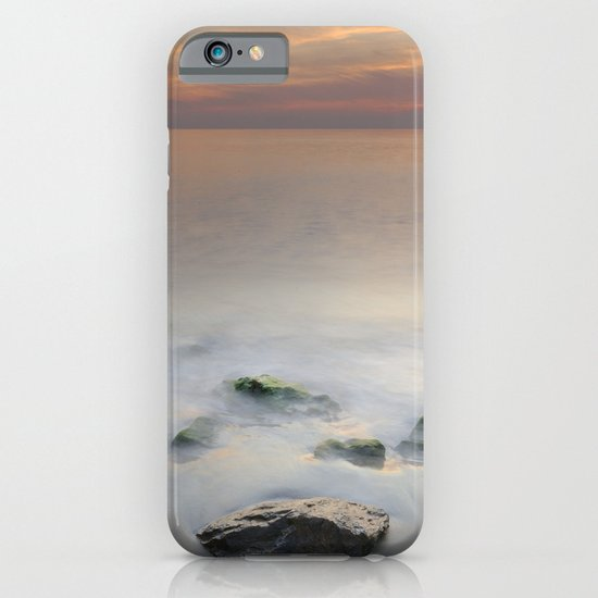 Calm red sunset at the beach iPhone & iPod Case