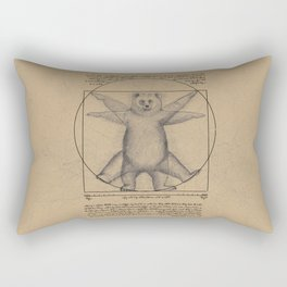 The Vitruvian Bear Rectangular Pillow