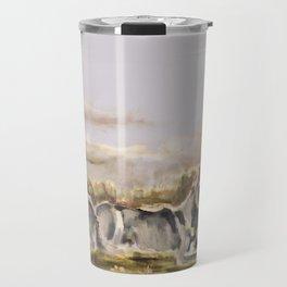 Totem wolf Sunset Travel Mug