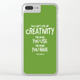 Creativity Quote - Maya Angelou Clear iPhone Case