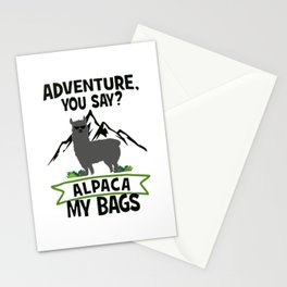 Alpaca My Bags  Travelling Stationery Cards