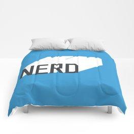 Retro Nerd Blue Comforters