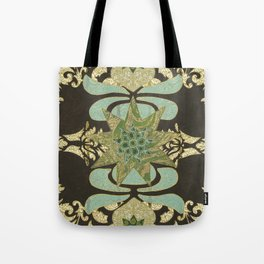 Nine-Pointed Star with Lotus Tote Bag