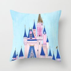 Cinderella's Castle Throw Pillow