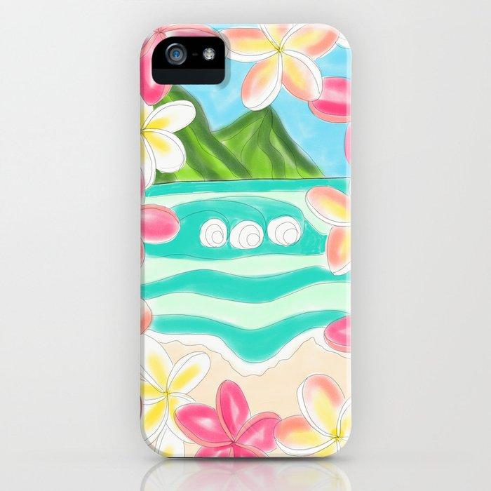 Plumeria ocean view iPhone Case