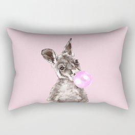 Bubble Gum Baby Kangaroo Rectangular Pillow