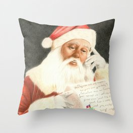 Letter to Santa Claus Throw Pillow