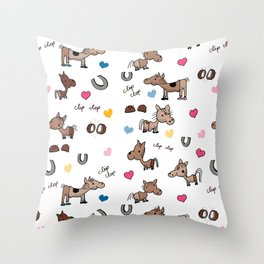 Clip Clop Throw Pillow