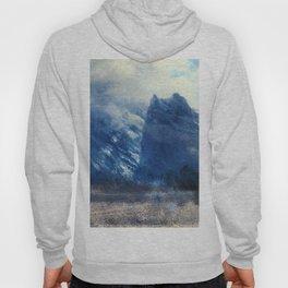 Yosemite Valley Twin Peak 1859 By Albert Bierstadt   Reproduction Painting Hoody