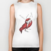 lobster Biker Tanks featuring lobster by mark ashkenazi